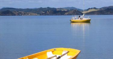 Sailing boat in Bay of Islands, New Zealand
