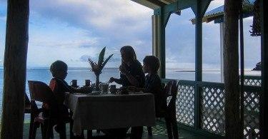 Breakfast in a Fale Samoa