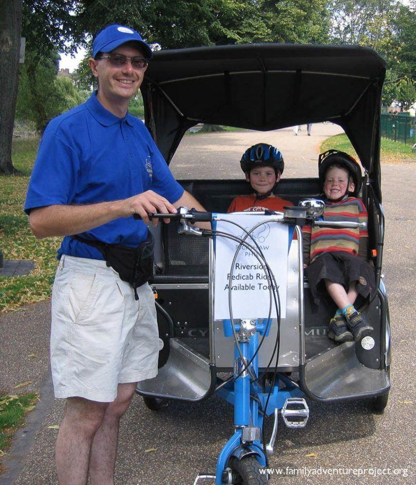 Pedicab Phil in Shrewsbury