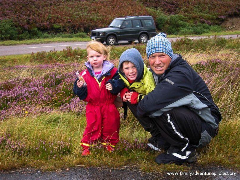 Family on North Coast of Scotland