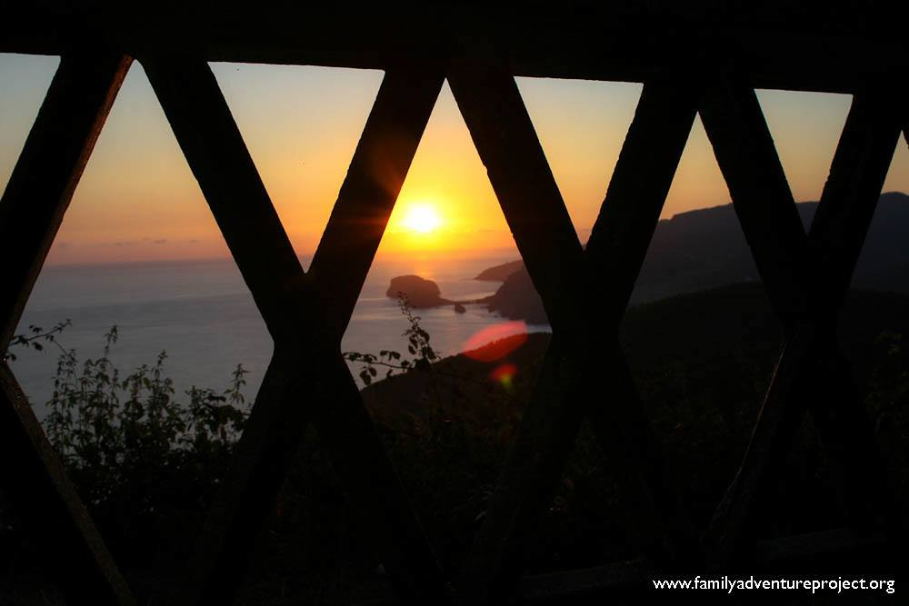 Sunset Northern Spain near Mundaka