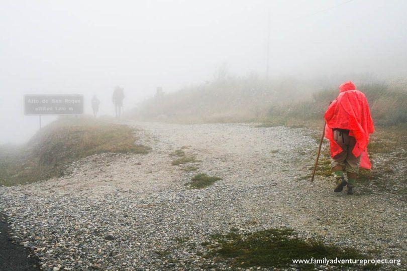 Ponchos in the Mist Heights of O Cereibro Camino de Santiago