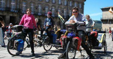 Family arrives in Santiago de Compostela