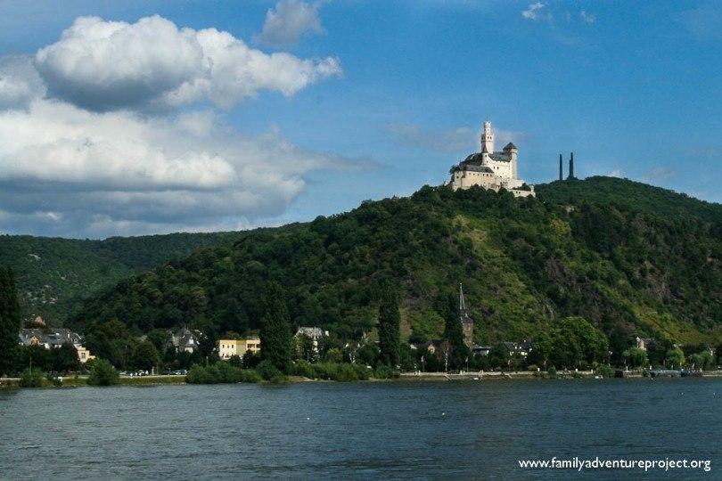 Castle on the Rhine near Koblenz