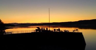 Sunset Arnside Pier Cumbria