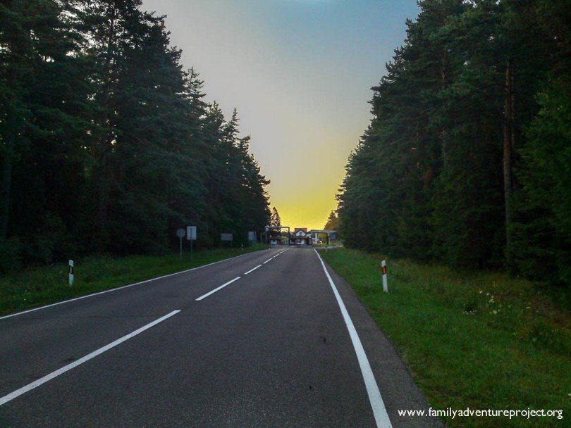 Approaching the Latvian border