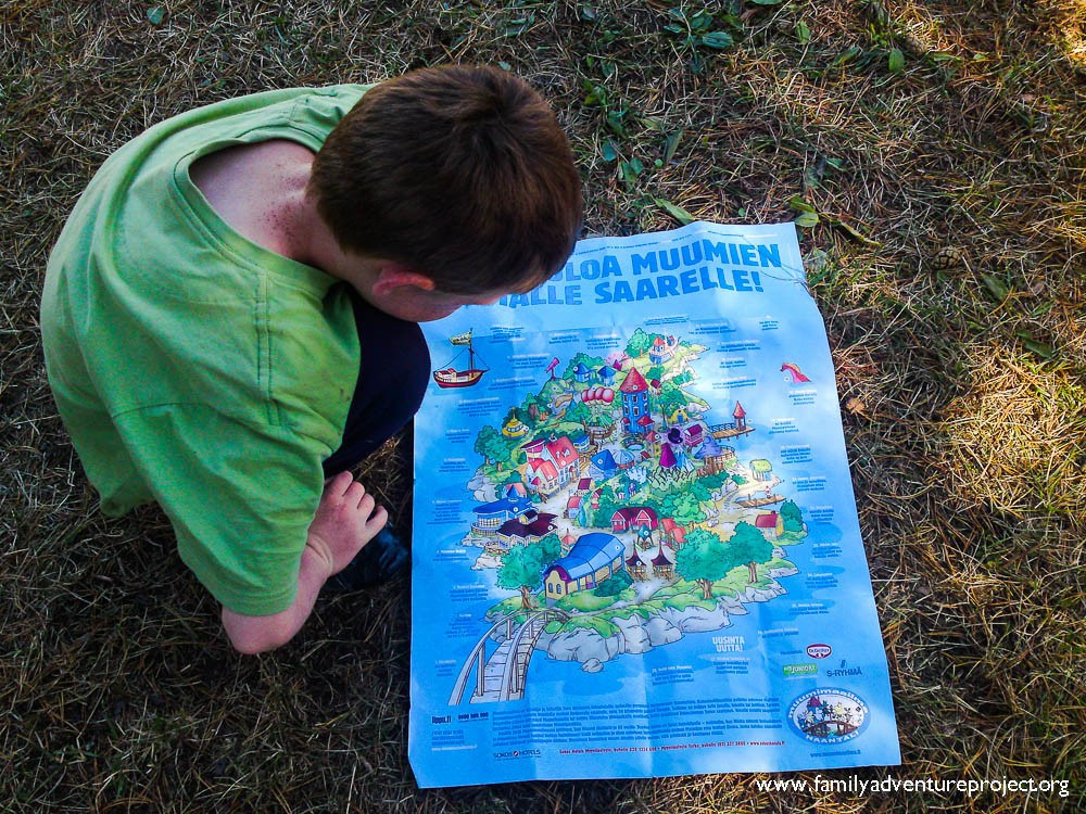 Studying the map of MoominWorld Finland