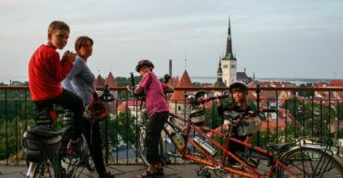 Cyclists on Toompea