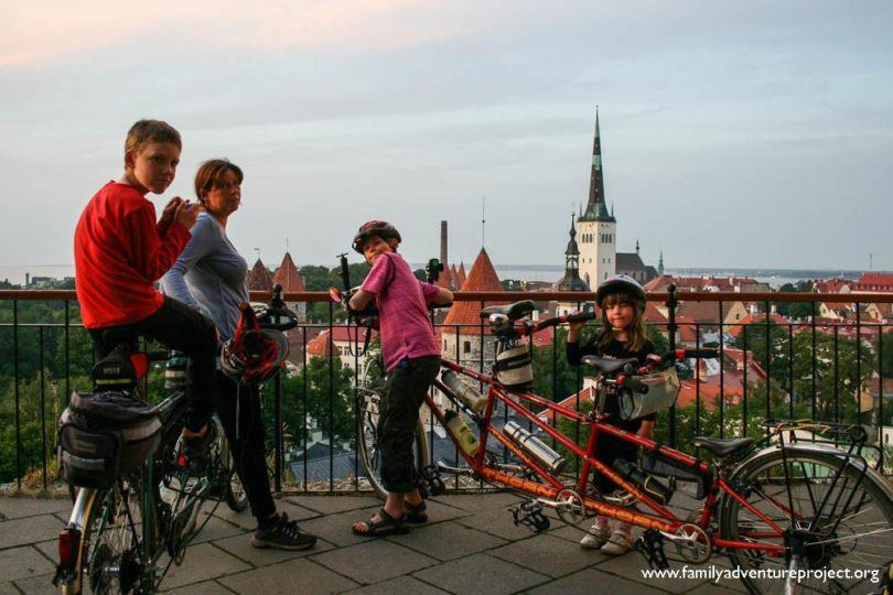 Cyclists on Toompea