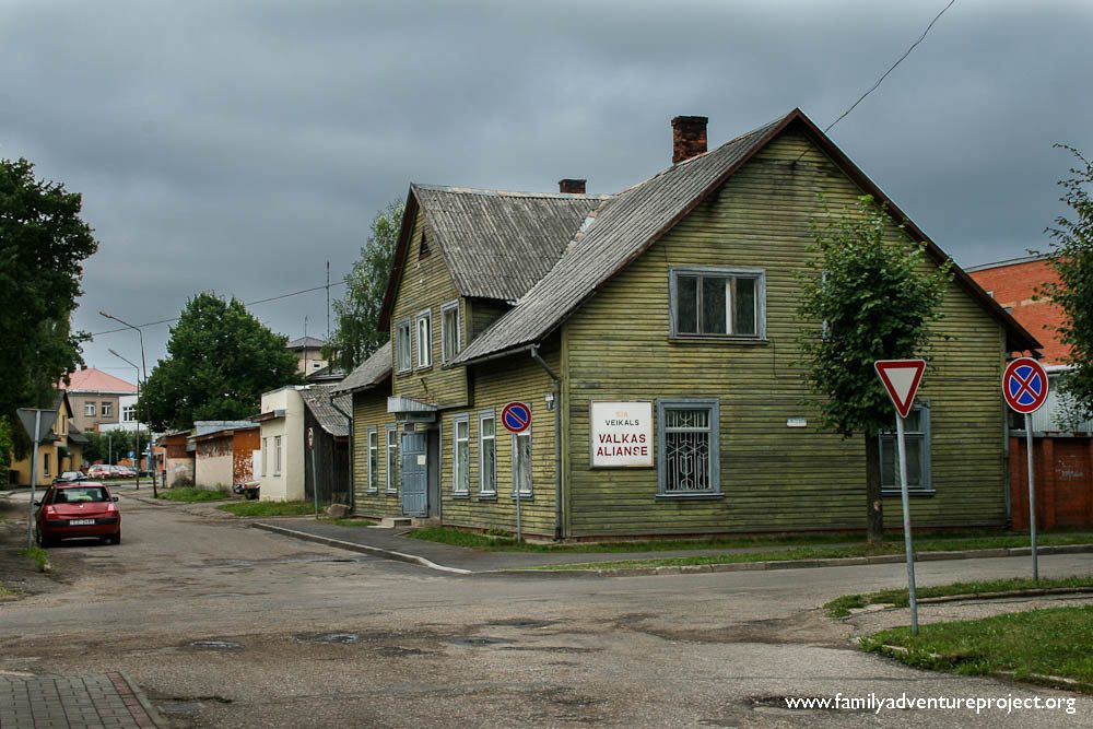 Wooden house in Valka
