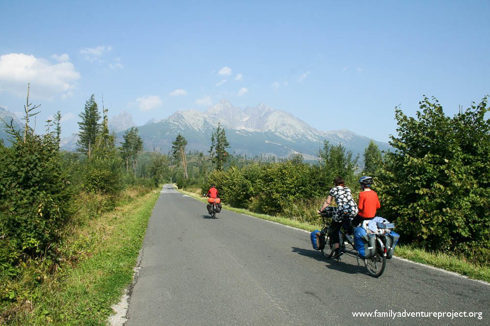 Cycling towards the High Tatras in Slovakia