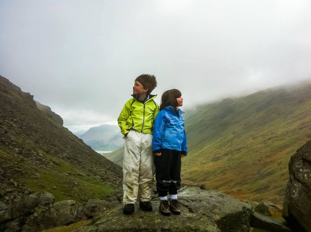 Kids on the Kirkstone Pass, Lake District