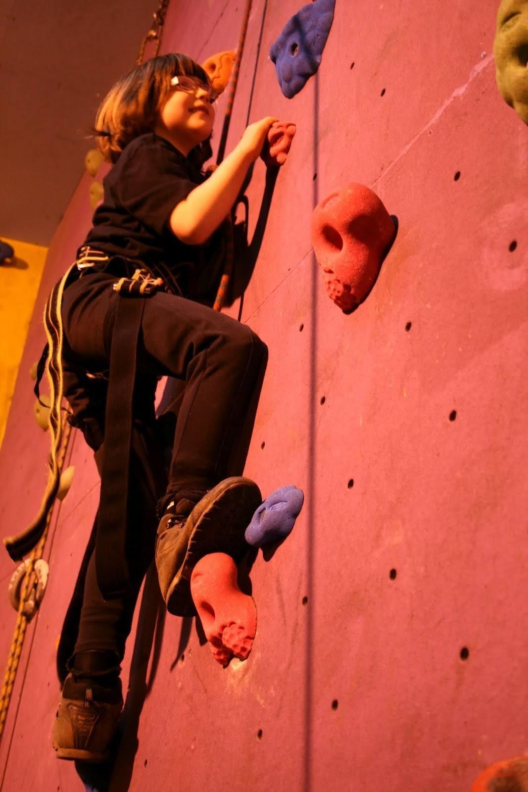 Children Climbing at Keswick Climbing Wall