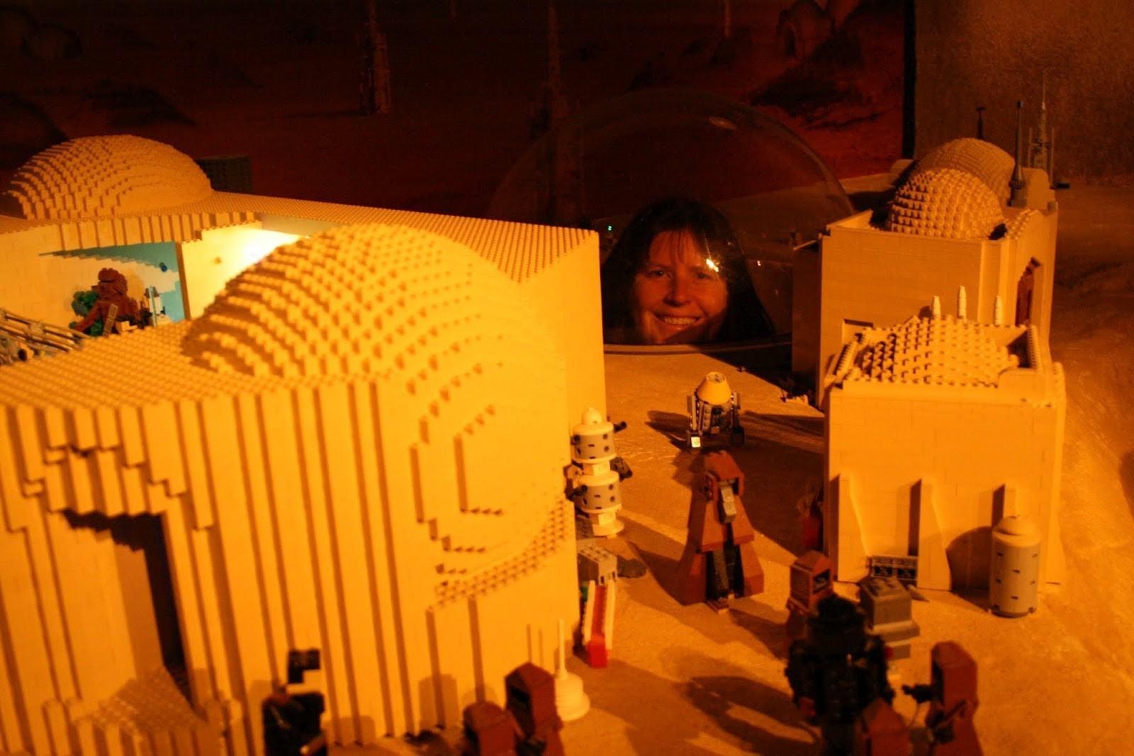 Visiting Tattoine at Star Wars Miniland