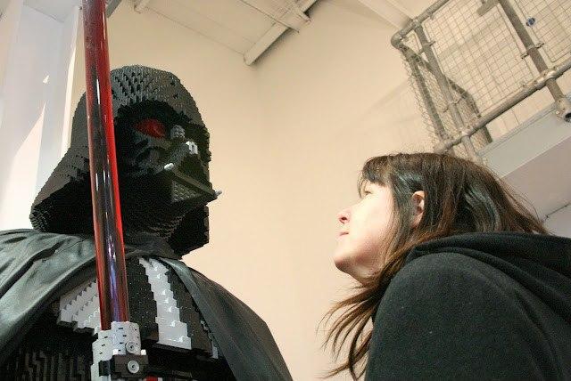 Meeting Darth Vader at Legoland Star Wars Miniland