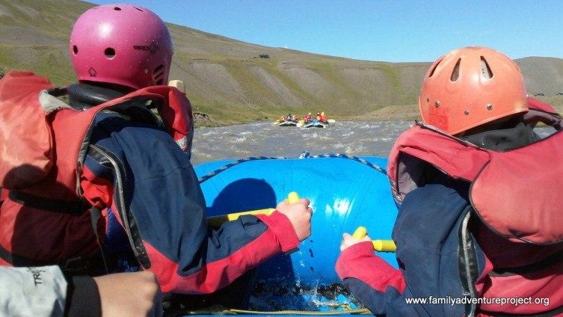 Rafting on the Vestari-Jökulsá, North Iceland