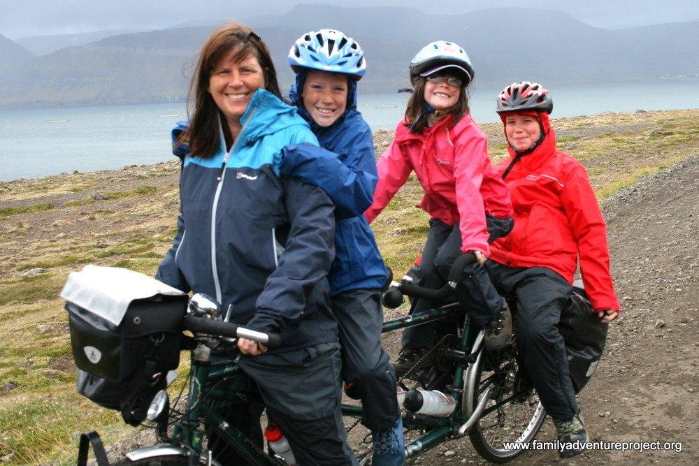 Family on a Bike, Dream Road, Iceland