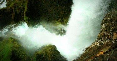 Looking down lower falls at Dynjandi Waterfall