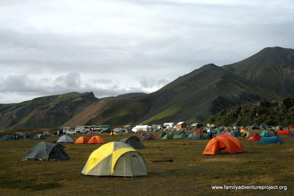 Camp Site at Landmannalaugar Iceland