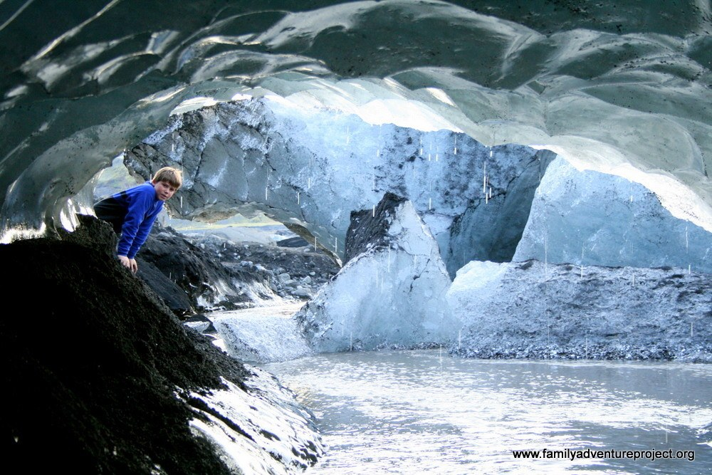 In Ice Arch on Glacier