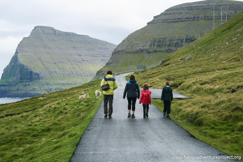 Walking on the Faroe Islands