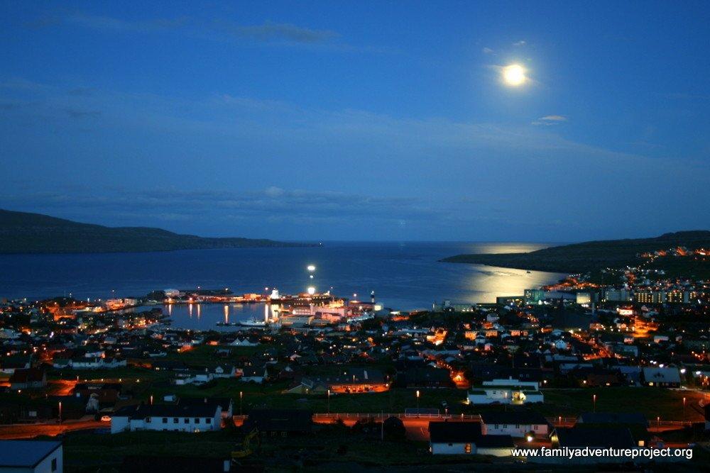 Torshavn by night, Faroe Islands