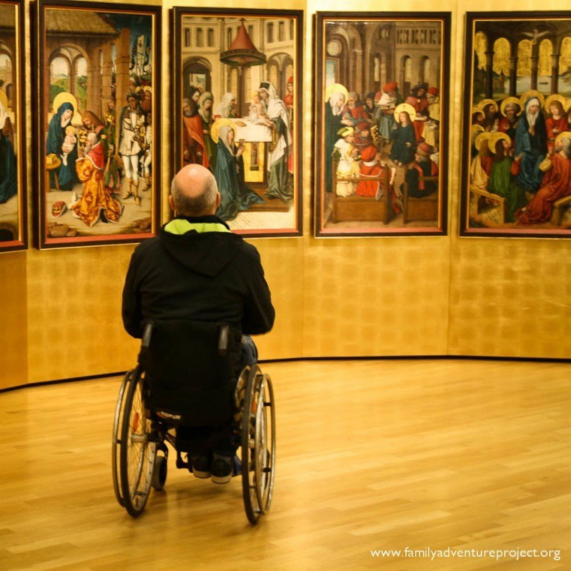 Viewing in the Landesmuseum Mainz