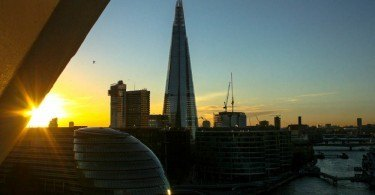 London The Shard at Sunset