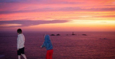 Sunset Lands End Cornwall