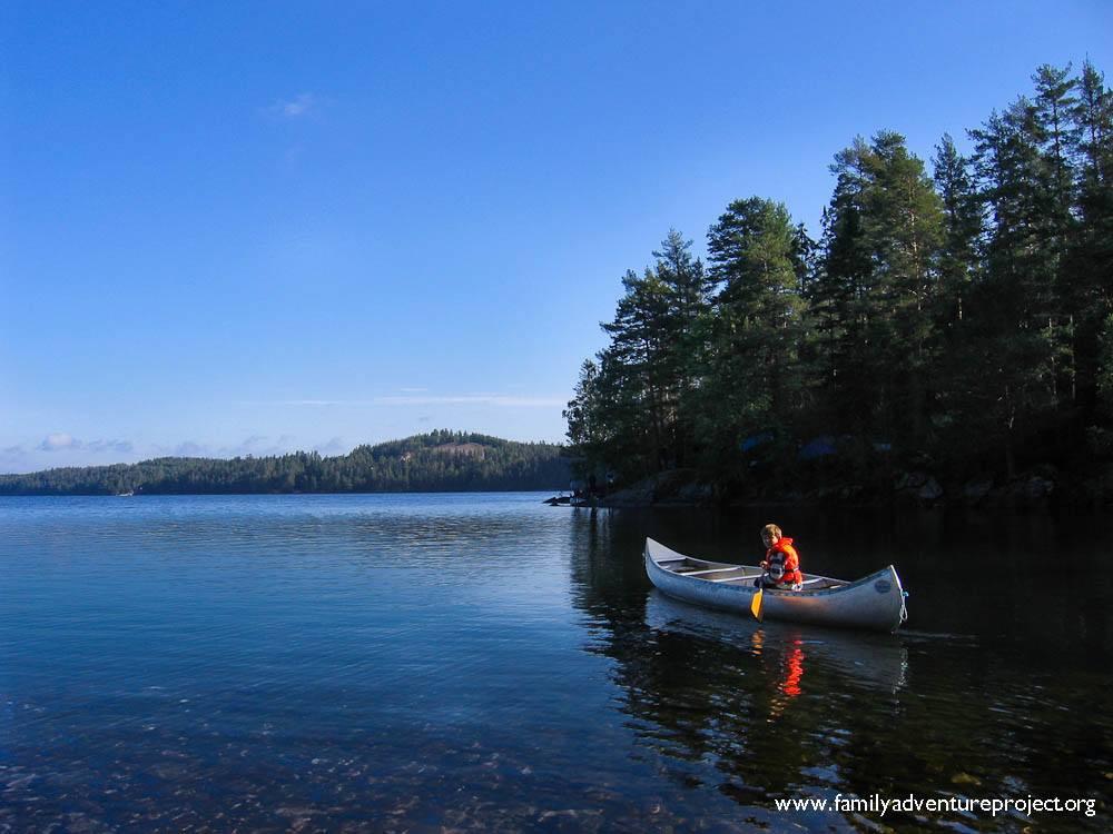 Canoeing in Western Sweden