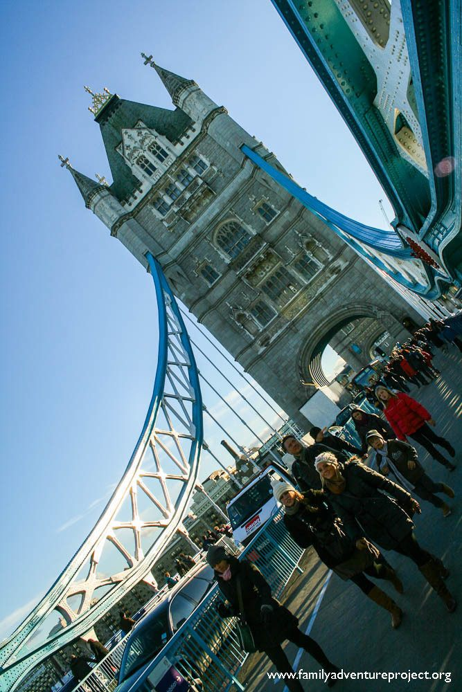 Pedestrians on Tower Bridge