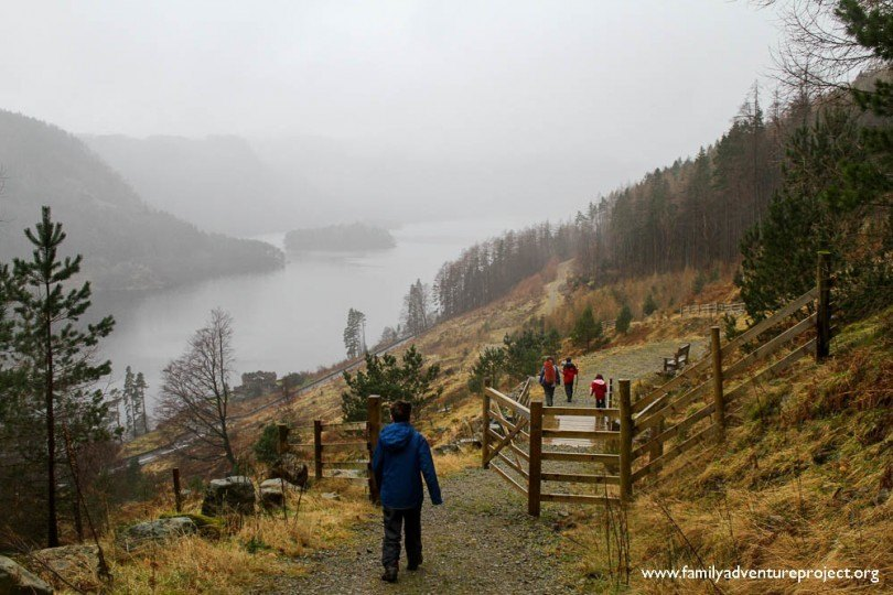 Walking down to Thirlmere Cumbria