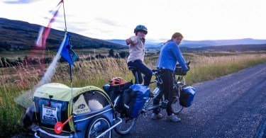 Family Cycling in Scotland