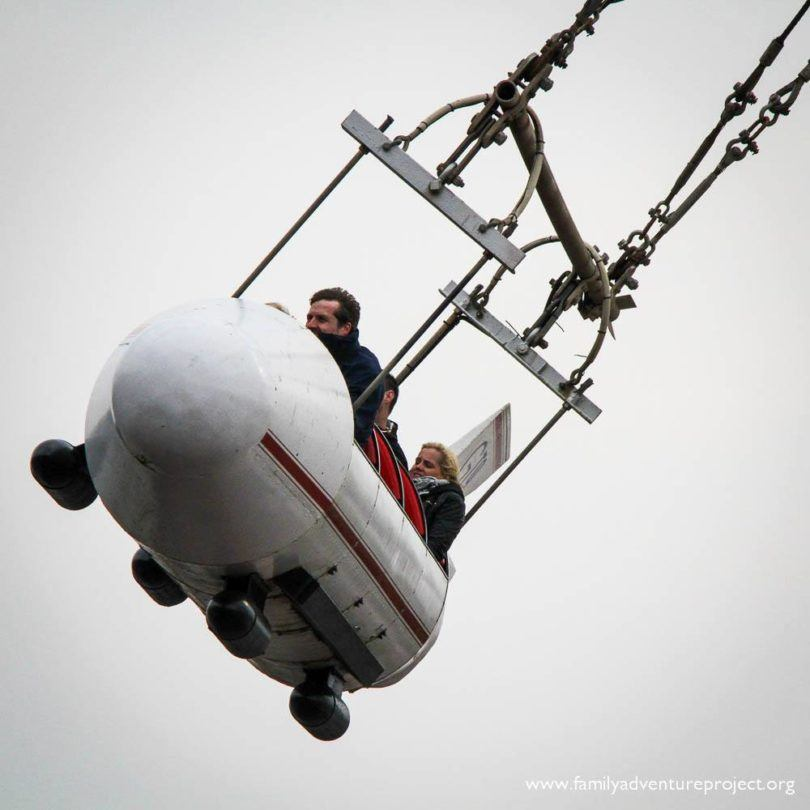 Those incredible men and their flying machines. At Blackpool Pleasure Beach