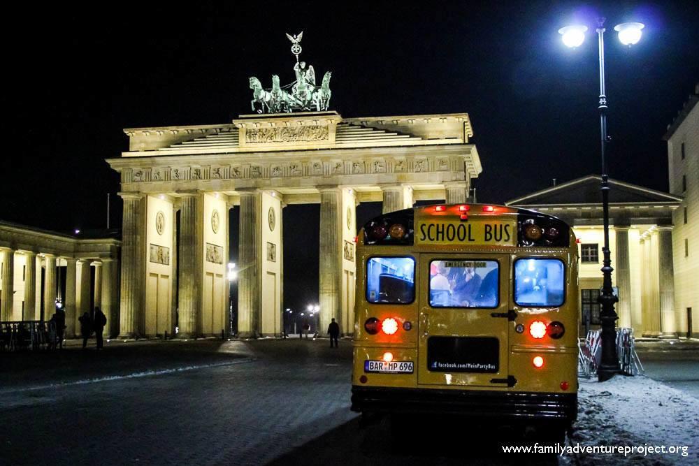 Bus at Brandenburg Gate Berlin