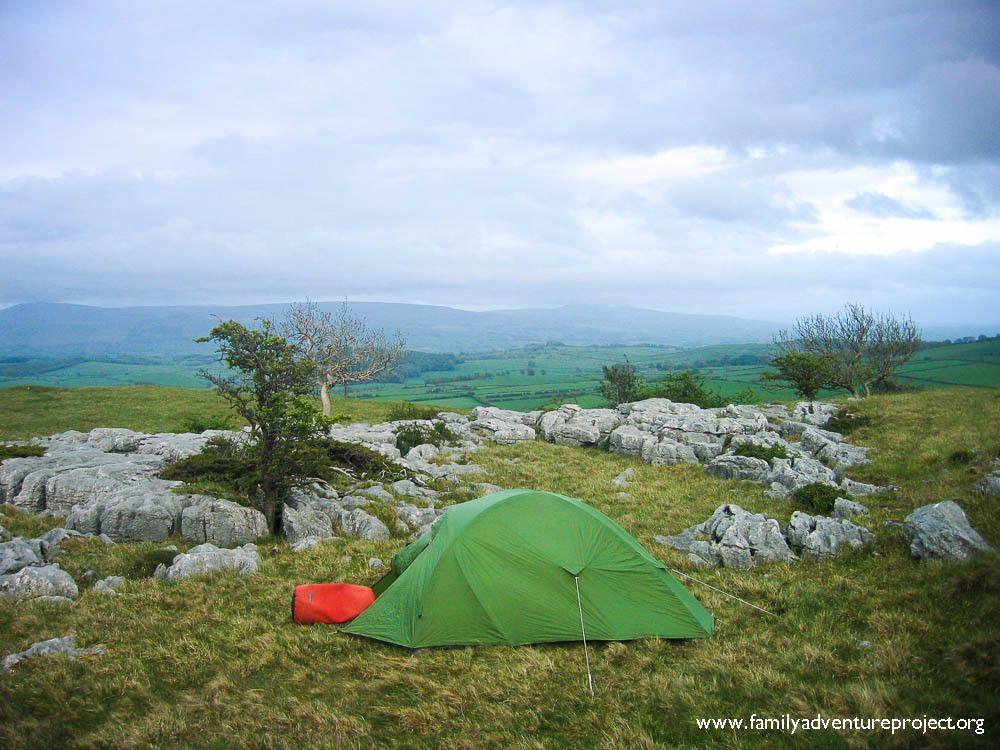 Camping on Farleton Fell Cumbria