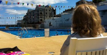 Spectator at Gourock Outdoor Pool