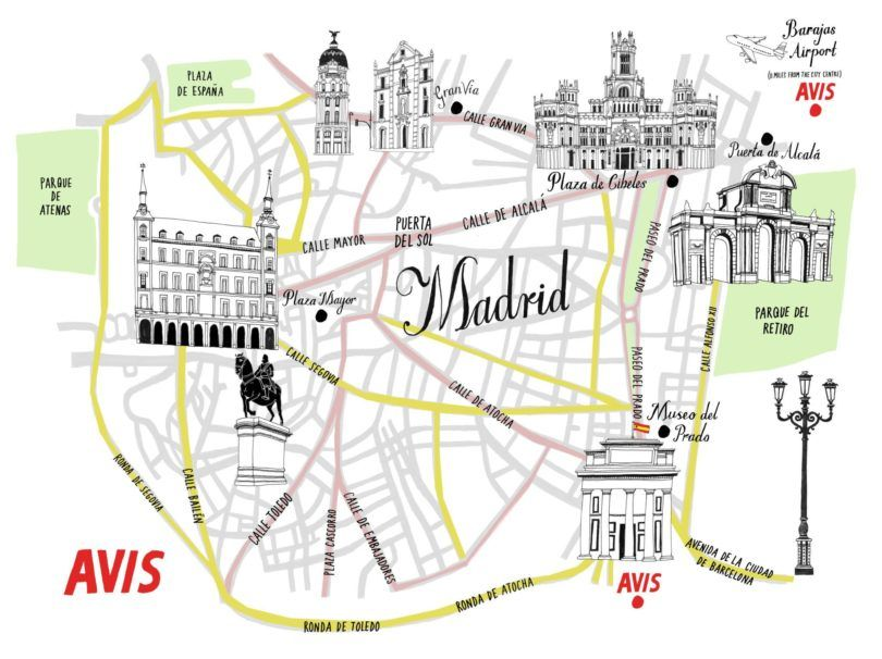 Madrid Avis Map
