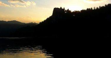 Bled Castle at Sunset