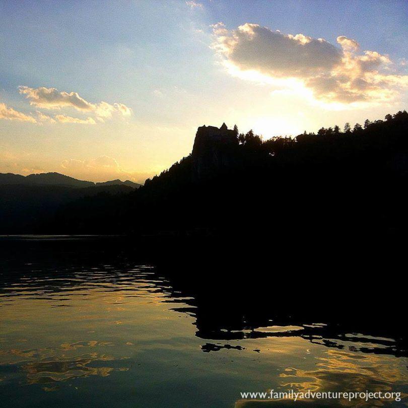 Bled Castle at Sunset