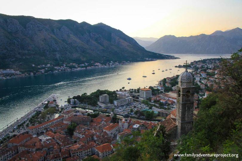 The Bay of Kotor and Kotor Old Town from the Fort