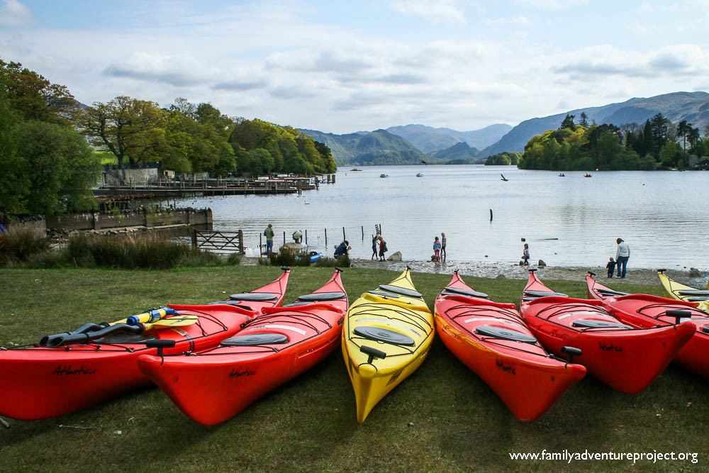 Sea Kayaks at Derwent Water