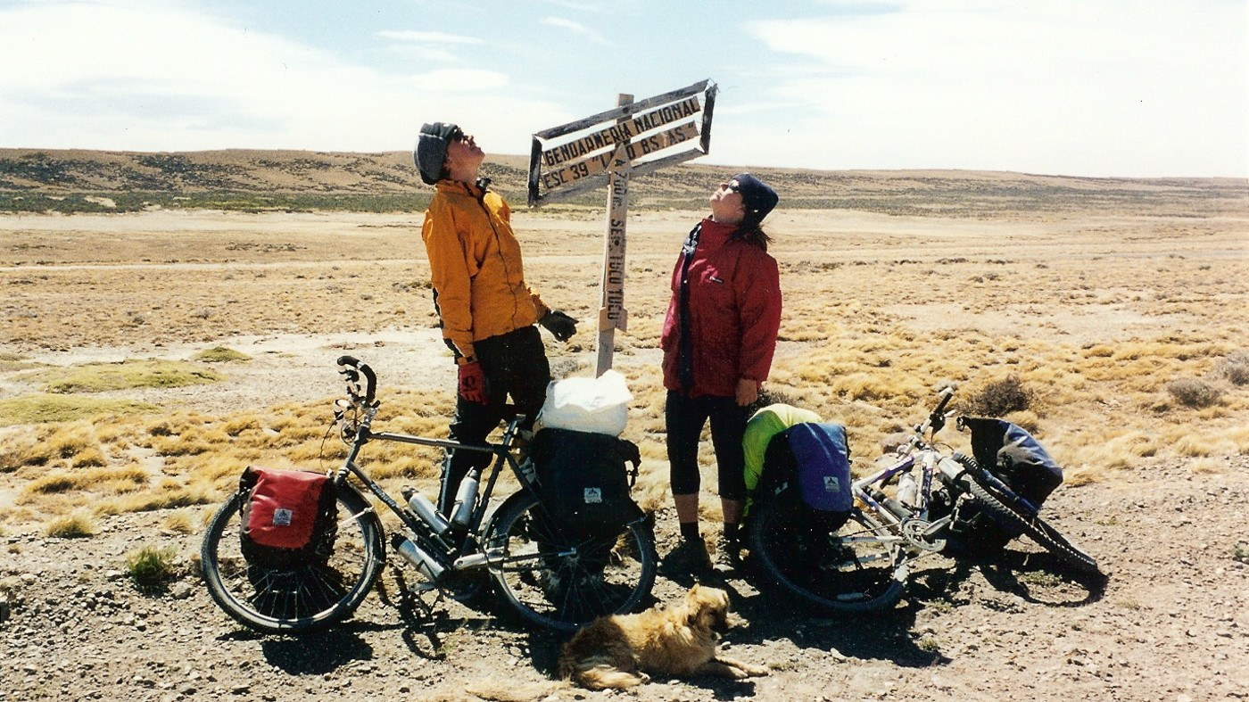 Cyclists exploring Patagonia and Carreterra Austral