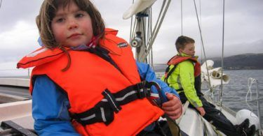 Family Sailing in Scotland, rouding Cumbrae