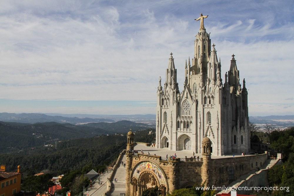 Temple de Sagrat Cor, Tibidabo, Barcelona, Spain
