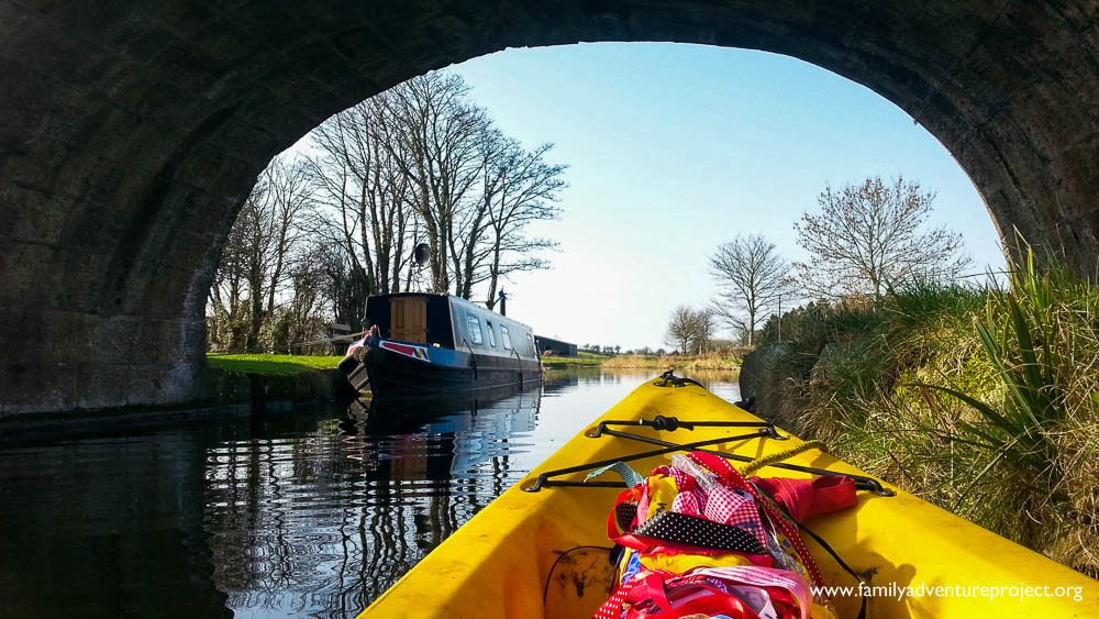 Canoeing on Lancaster Canal