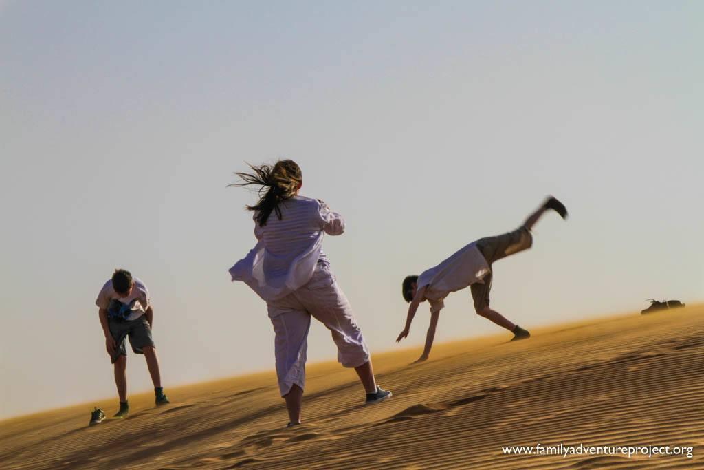 Desert Acrobatics in Dubai Desert