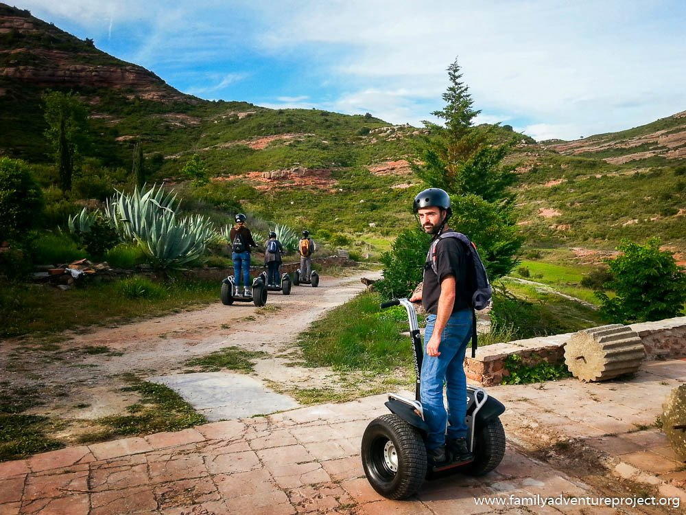 Segway riding at Els Monts, Costa Barcelona