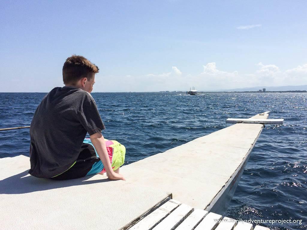 Island Hopping on bancas off Mactan Island, Philippines