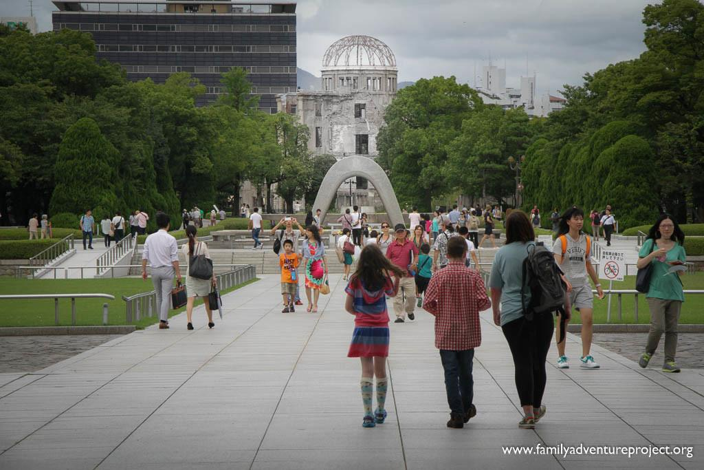 Looking to the A Dome in Hiroshima Peace Park